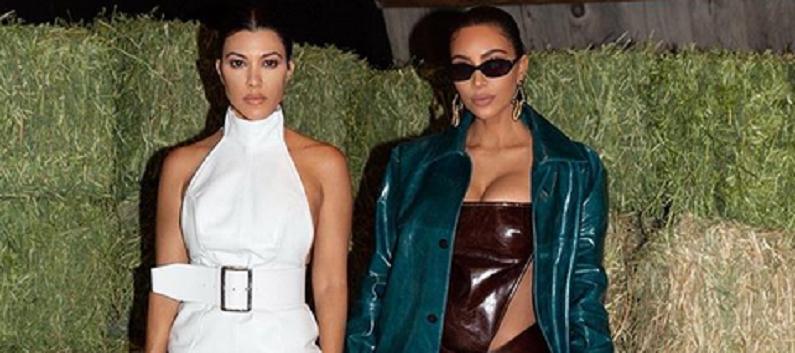 kourtney kardashian and kim kardashian instagram post