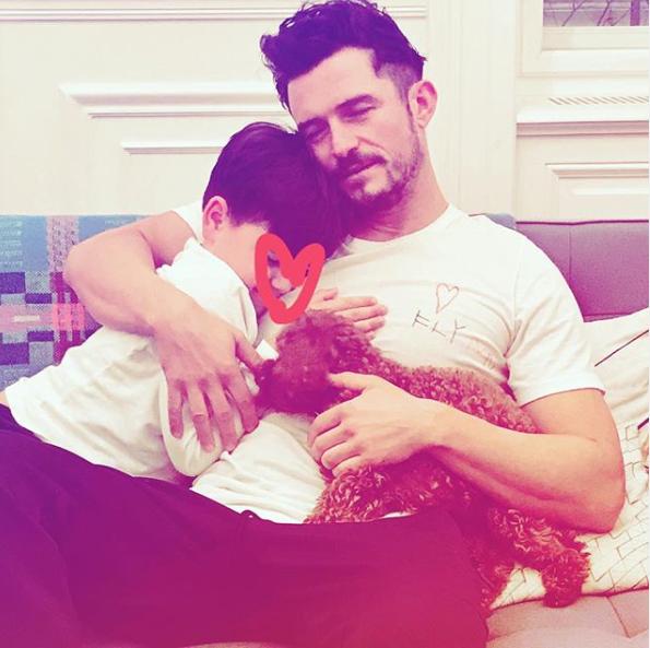 Orlando Bloom, Son Flynn and Mighty