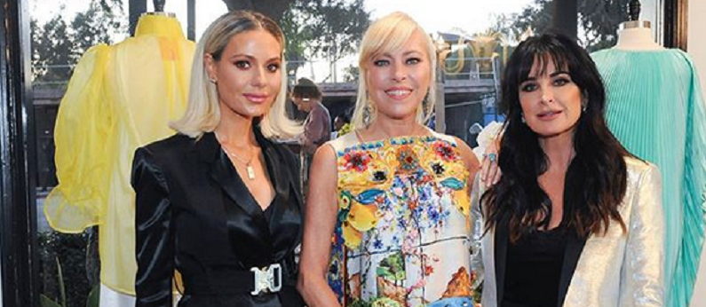 sutton stracke poses with dorit kemsley and kyle richards instagram post