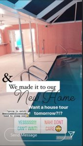 Jamie Otis New Home via Instagram