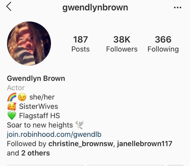 Sister Wives Gwendlyn Brown rainbow