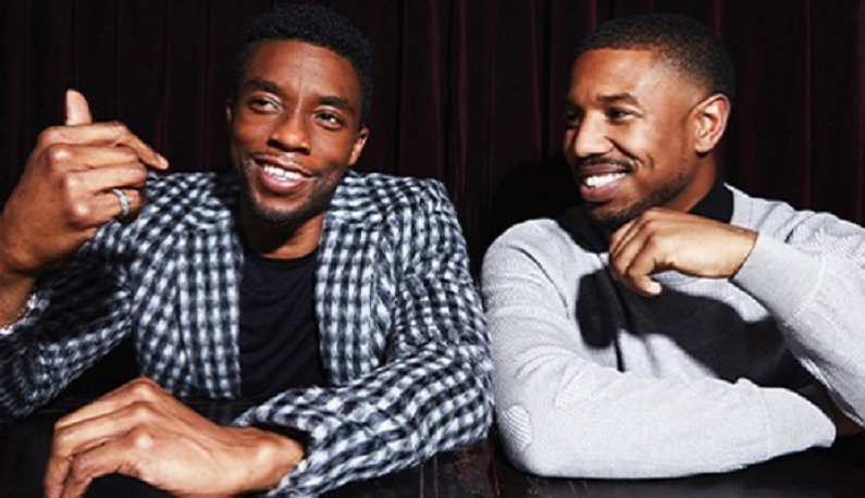 chadwick boseman with michael b. jordan instagram post