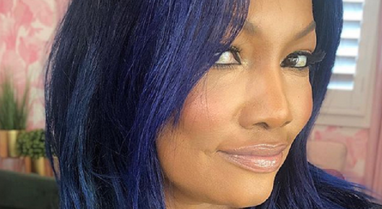 garcelle beauvais blue hair instagram post