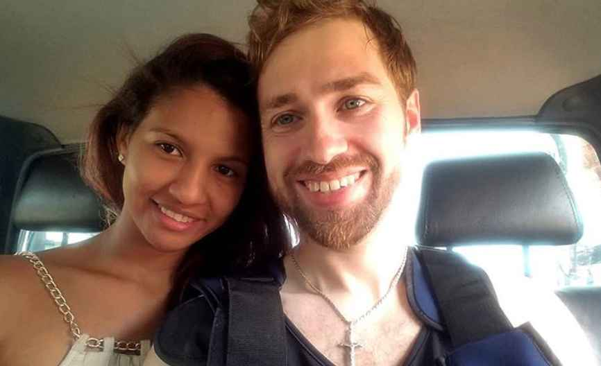 Paul and Karine of 90 Day Fiance in happier times