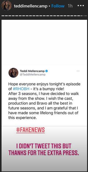 teddi mellencamp instagram stories part 1