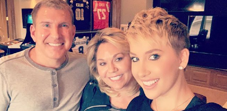 todd chrisley and julie with savannah instagram