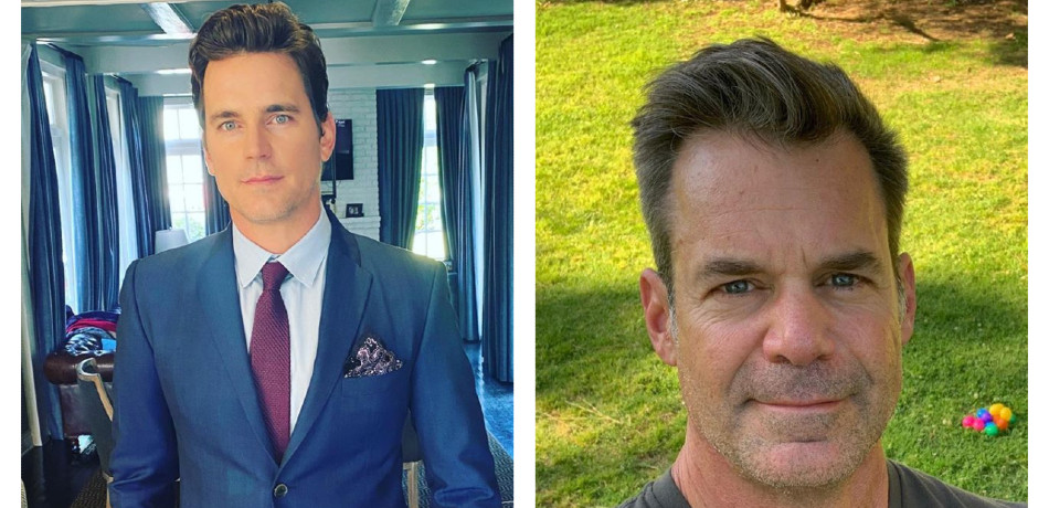 The Boys in the Band Matt Bomer and Tuc Watkins Instagram collage