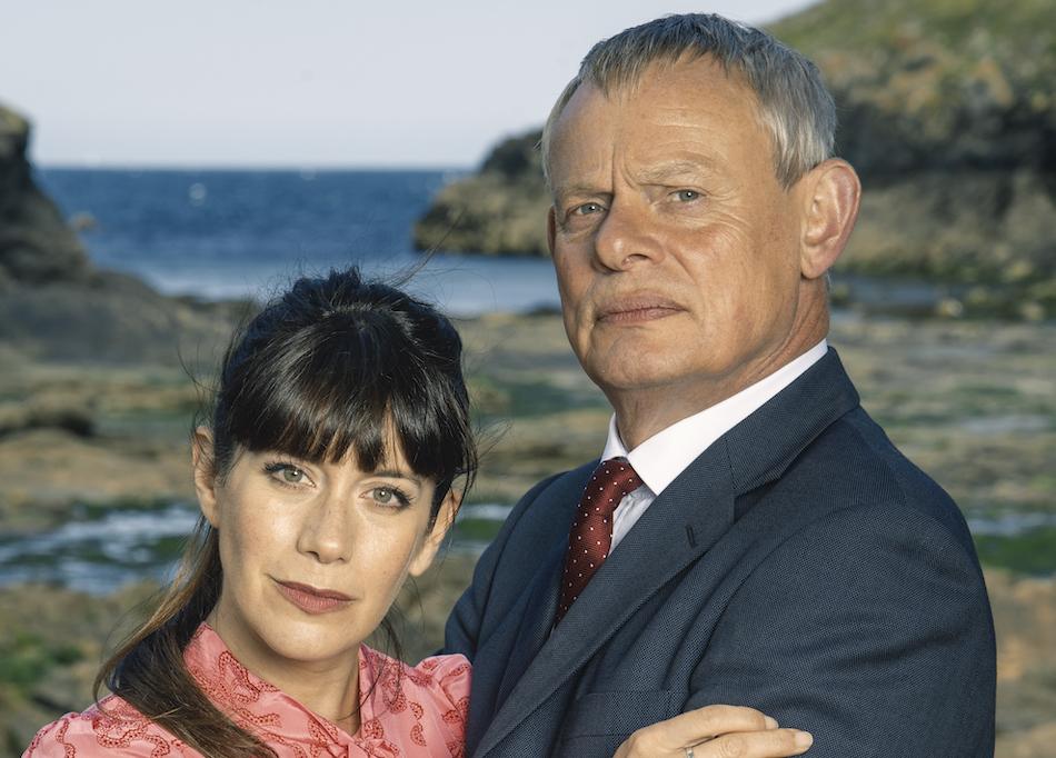 Doc Martin S9 on Acorn TV_Caroline Catz as Louisa, Martin Clunes as Dr. Martin-DM9_specials_97