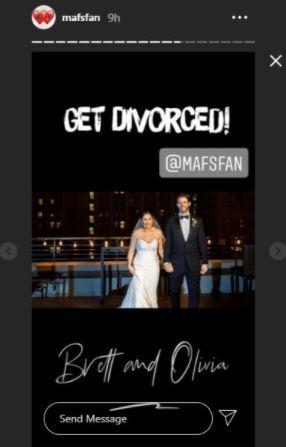 MAFS Brett and Olivia divorced