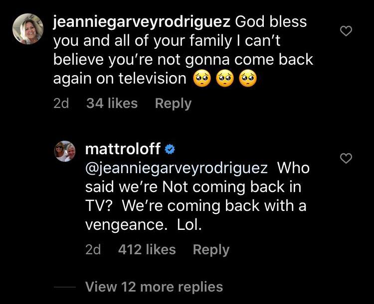 Matt Roloff Instagram