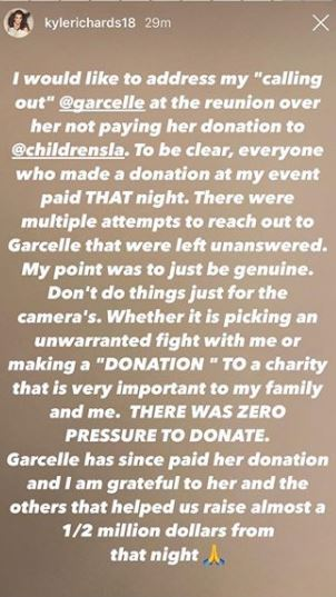 RHOBH Kyle and Garcelle feud over charity