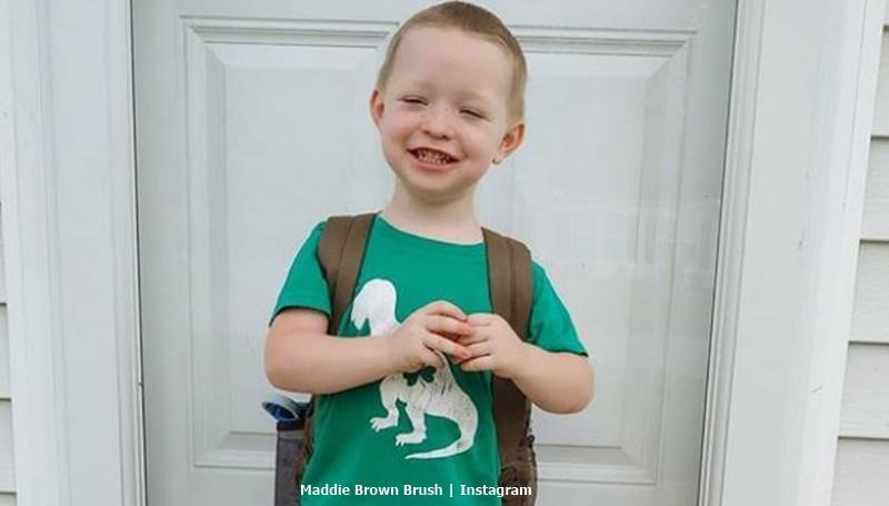 Maddie Brown Brush Son Axel