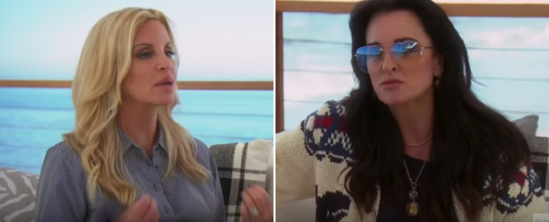 kyle richards and camille grammer rhobh clip youtube