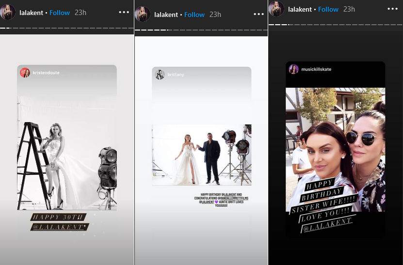 lala kent instagram stories