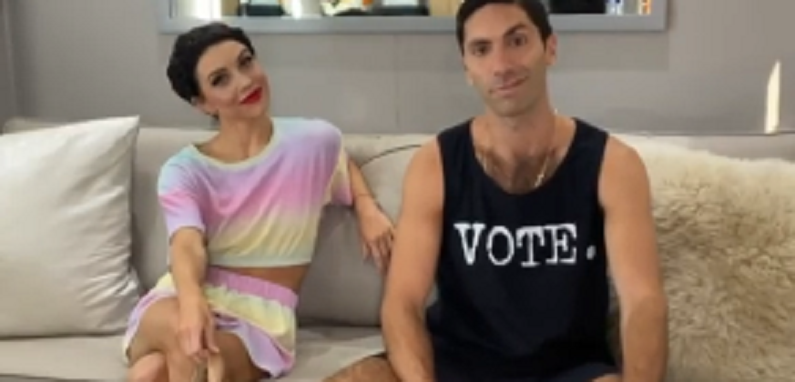 nev schulman and jenna johnson instagram clip