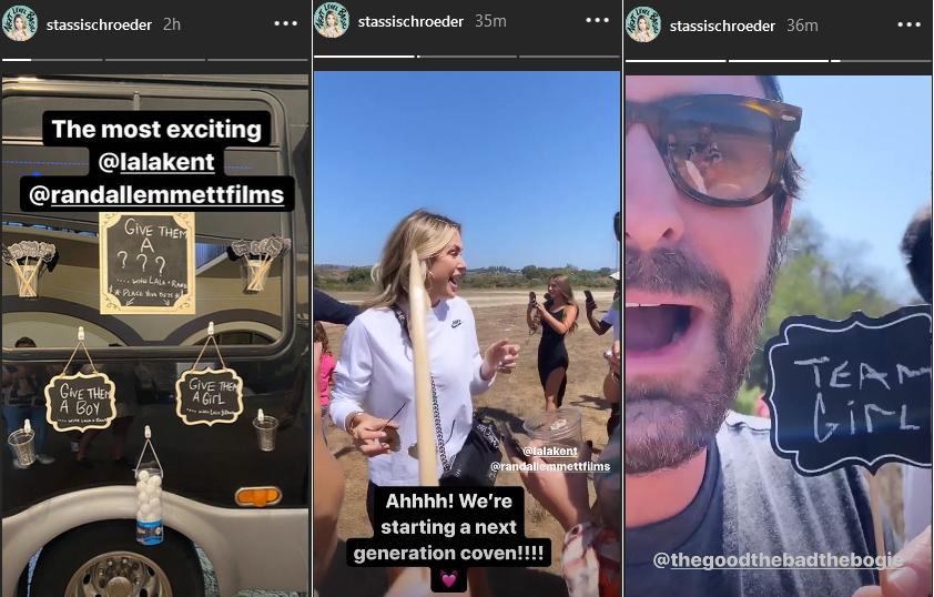 stassi schroeder shares lala kent gender reveal on instagram stories