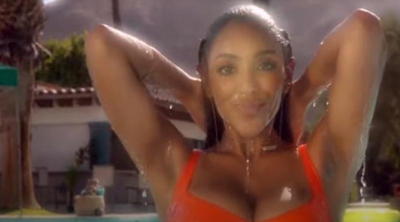 Bachelorette Tayshia Adams in the pool