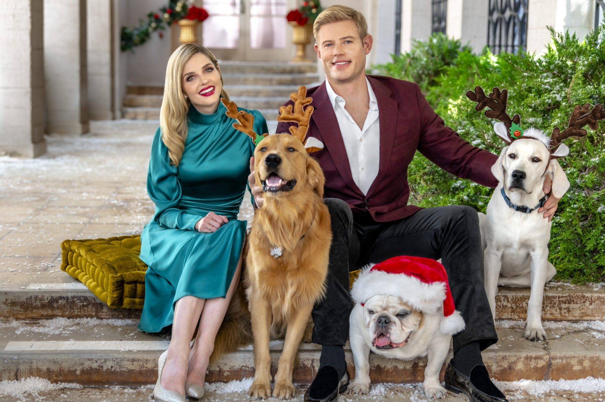 Christmas movies 2020 Photo: Jen Lilley, Trevor Donovan Credit: ©2020 Crown Media United States LLC/Photographer: Kim Nunneley/Alexx Henry Studios, LLC