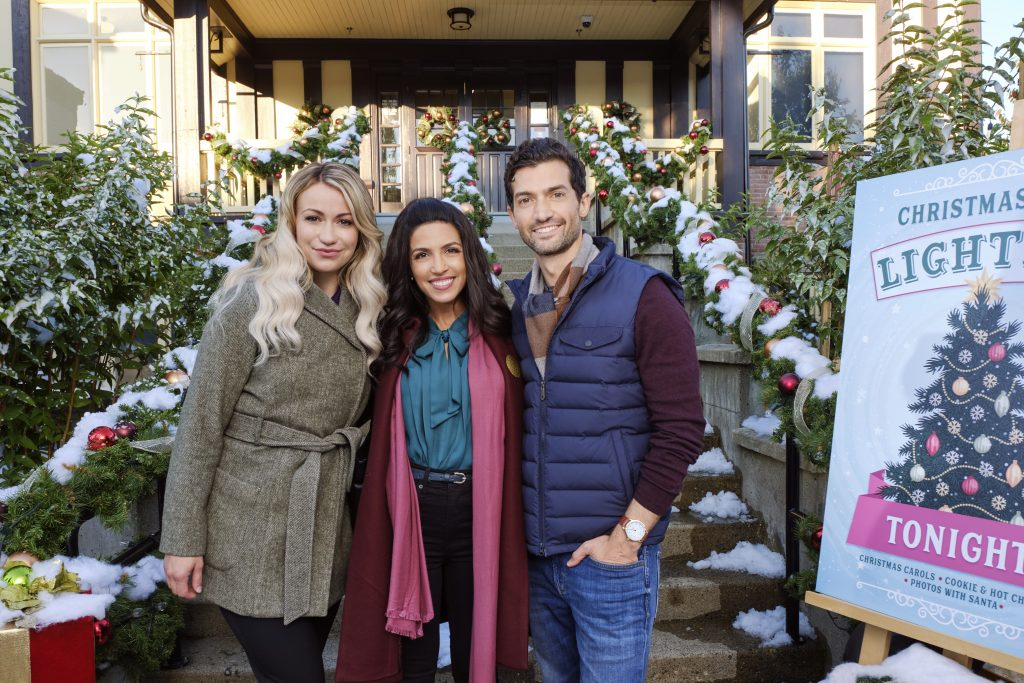 Hallmark, The Christmas Ring, Photo: Chelsey Reist, Nazneen Contractor, David Alpay Credit: ©2020 Crown Media United States LLC/Photographer: Allister Foster