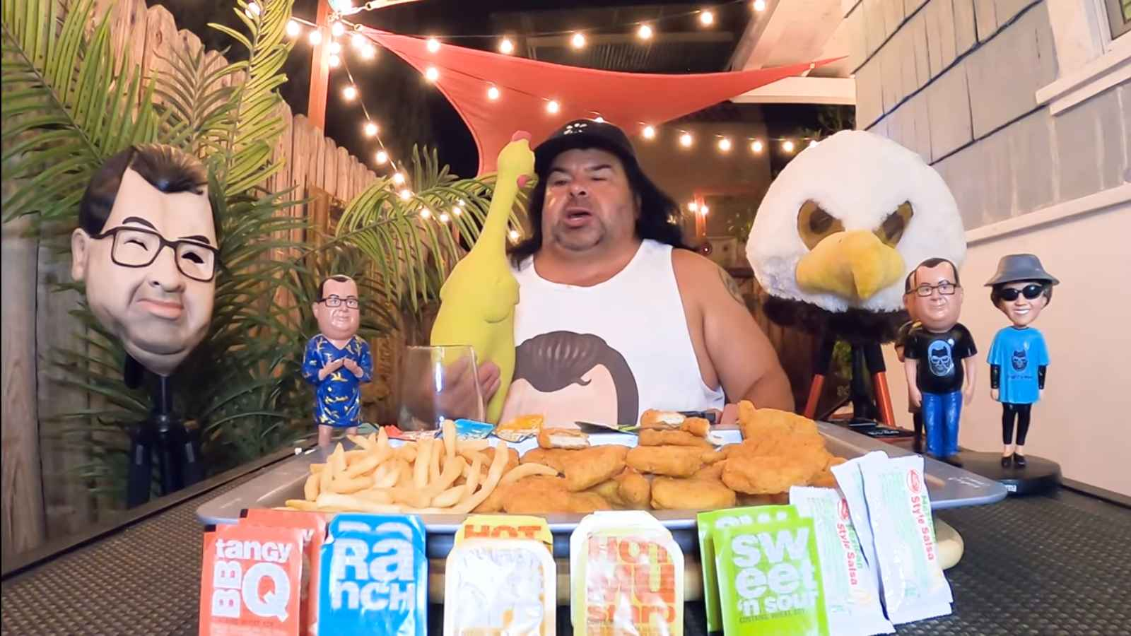 Big Ed Brown of 90 Day Fiance tries the 100 Chicken Nugget Challenge