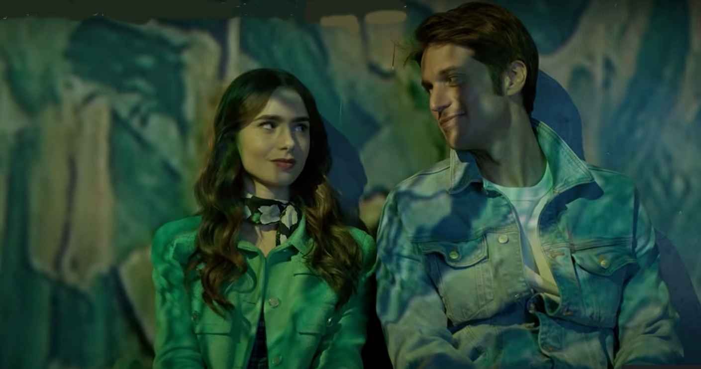 Lily Collins and Lucas Bravo of Emily in Paris on Netflix