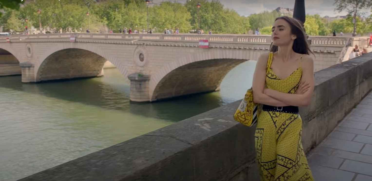 Lily Collins in Emily in Paris on Netflix