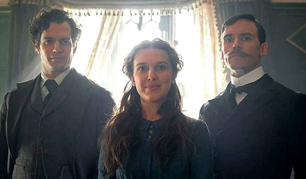Henry Cavill, Millie Bobby Brown and Sam Claflin star in the Netflix film Enola Holmes