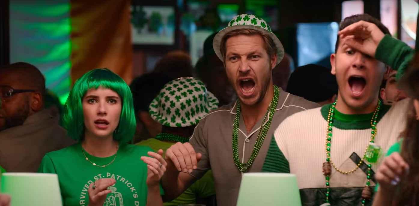 Emma Roberts and Luke Bracey in Netflix's Holidate