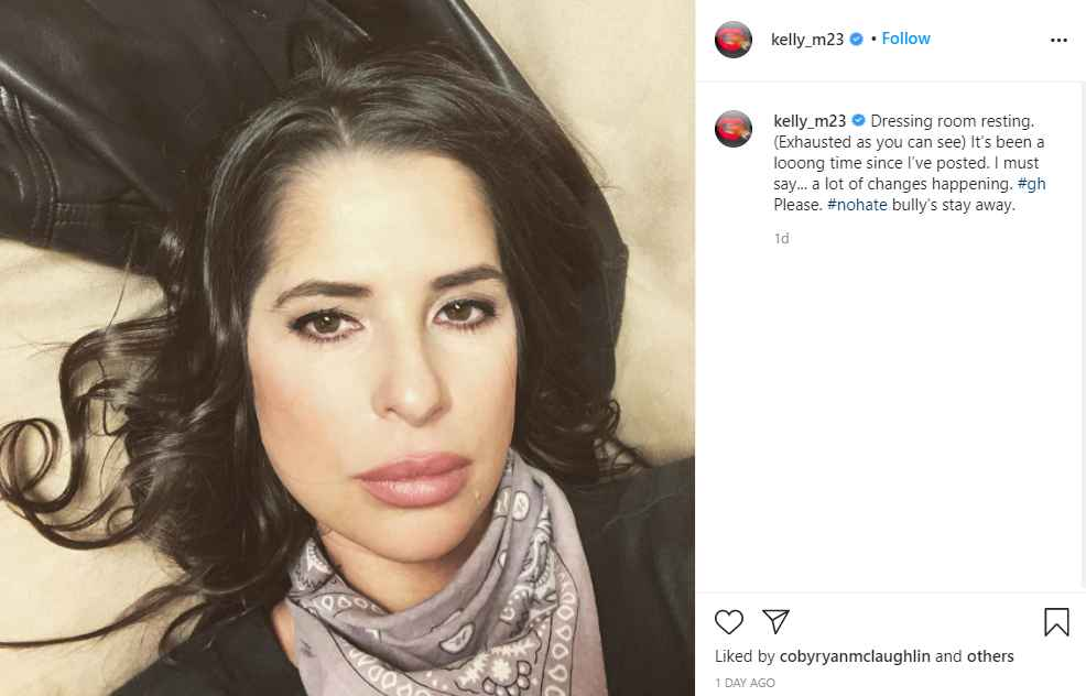 General Hospital star Kelly Monaco on Instagram