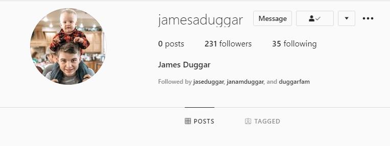 James Duggar Instagram