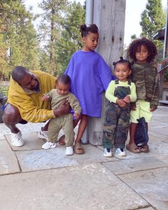 Kanye West with kids