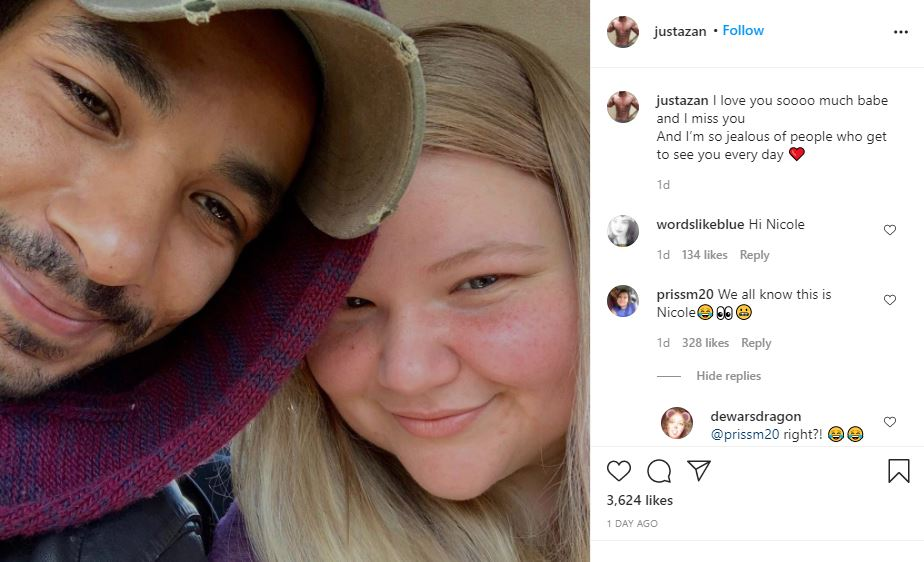 90 Day Fiance Azan and Nicole sweet message