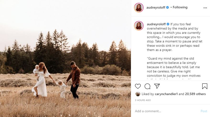 Audrey Roloff posts on empathy