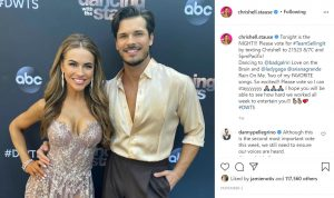 Chrishell Stause and dance partner