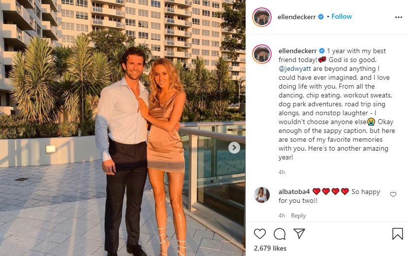 Ellen also shared Jed anniversary