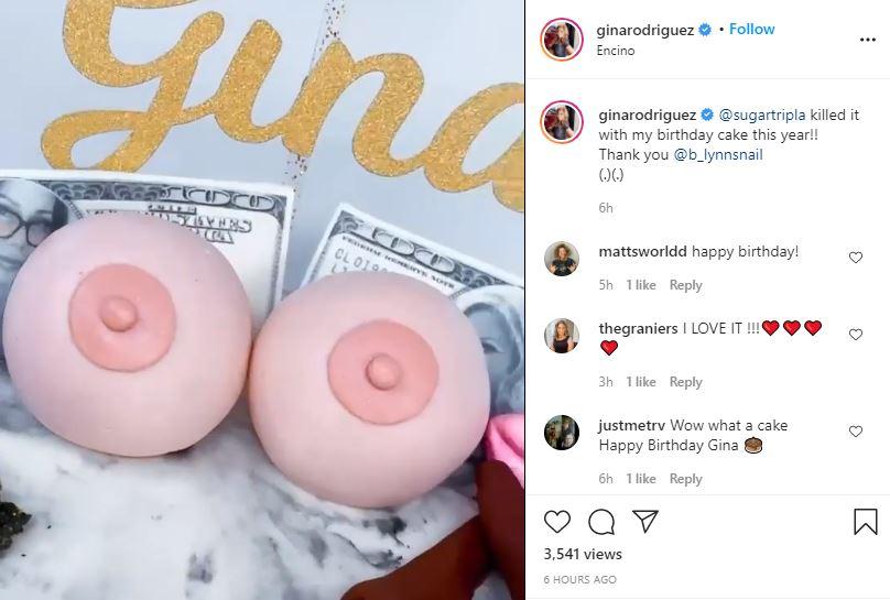 Gina Rodriguez eye popping birthday cake