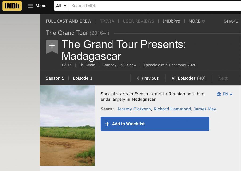 The Grand Tour Season 5 IMDb-https://www.imdb.com/title/tt12769332/?ref_=ttep_ep1