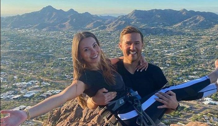 Kelley Flanagan and Peter Weber Rock Climbing