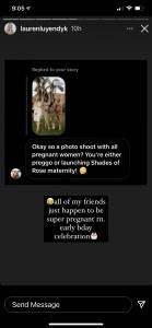 Lauren Burnham Instagram Story