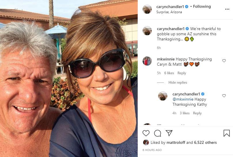 Matt Roloff Caryn Surprise Arizona