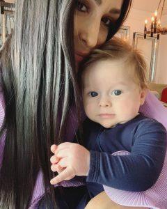 Nikki Bella breastfeeding