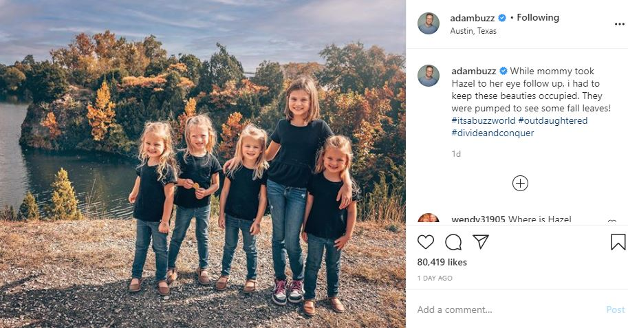 OutDaughtered Adam takes the girls Hazel eye checkup