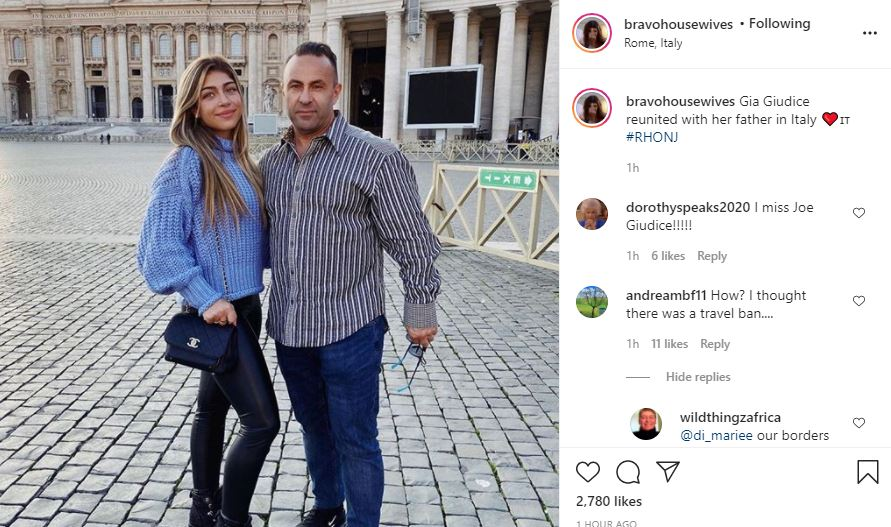 RHONJ Gia Giudice and Joe in Rome Italy