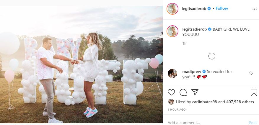 Sadie Robertson Huff gender reveal