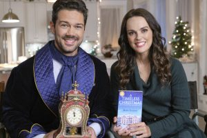 A Timeless Christmas is a Novel by Alexis Stanton, Photo: Ryan Paevey, Erin Cahill Credit: ©2020 Crown Media United States LLC/Photographer:Bettina Strauss