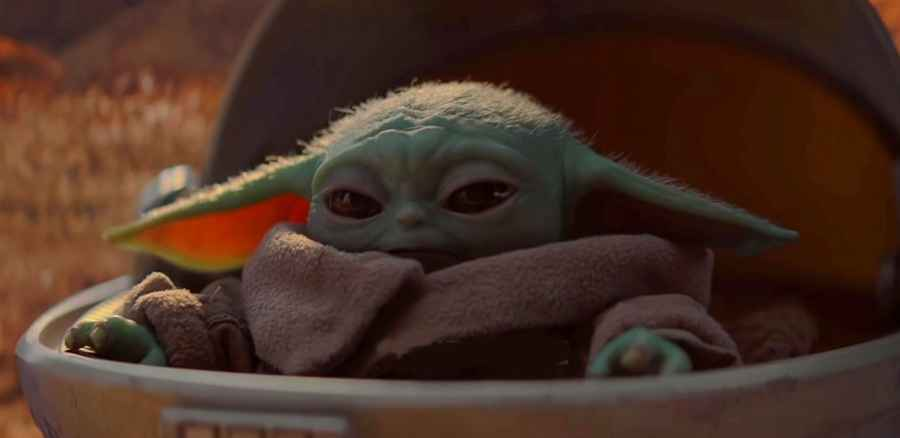 Baby Yoda from Disney's The Mandalorian