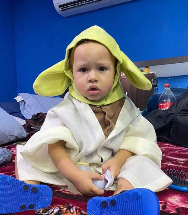 90 Day Fiance stars Paul and Karine's son Pierre as baby Yoda