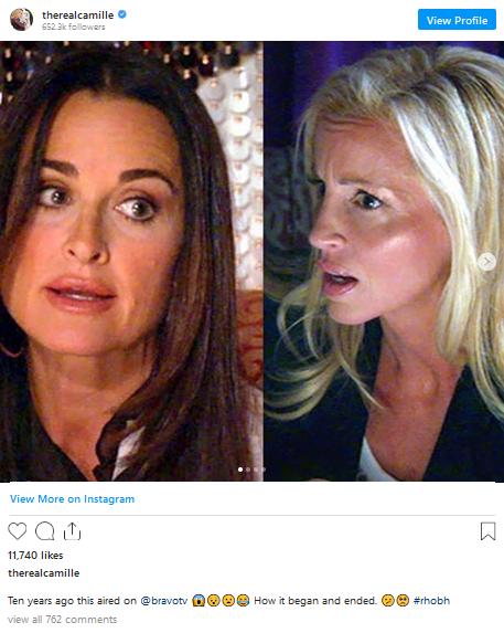 camille grammer instagram post