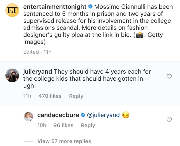 candace cameron bure instagram comment