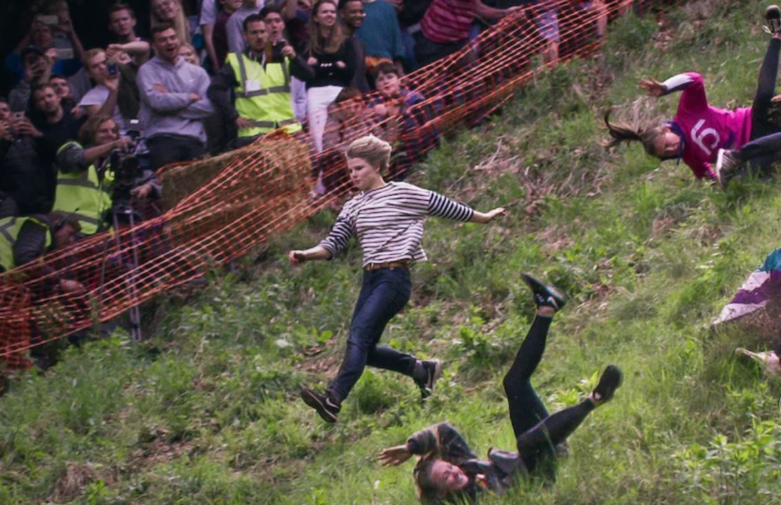 Review Netflix We Are The Champions Brockworth Cheese Rolling Episode Stands Alone Tv Shows Ace